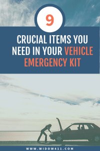 Vehicle Emergency Kit for Widows