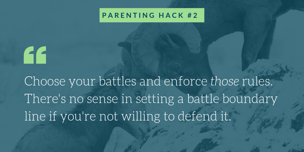 Battles with teenagers parenting hacks